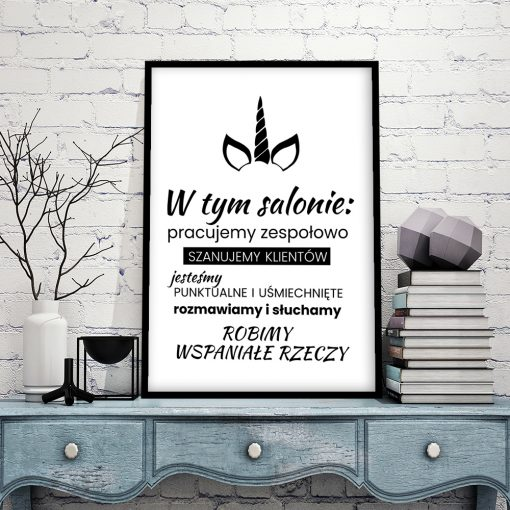 Plakat typograficzny do salonu fryzjerskiego