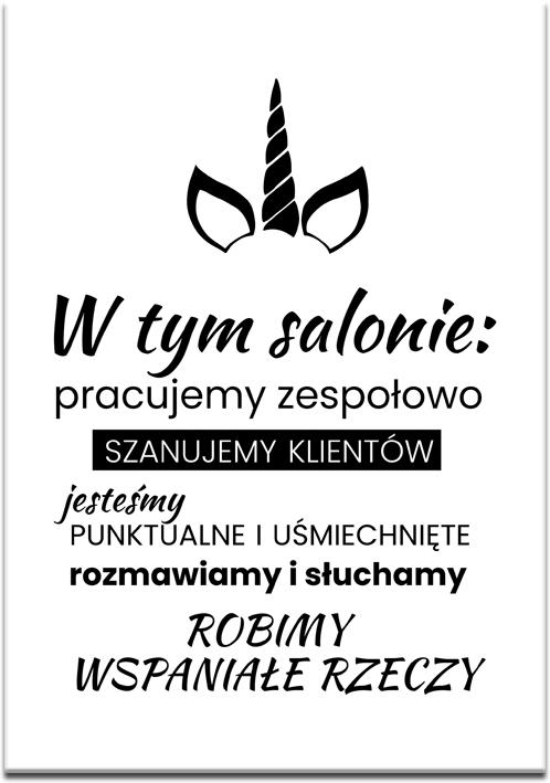 Typograficzny plakat w kolorze czarno-białym