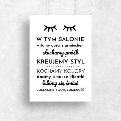 Plakat do salonu kosmetycznego