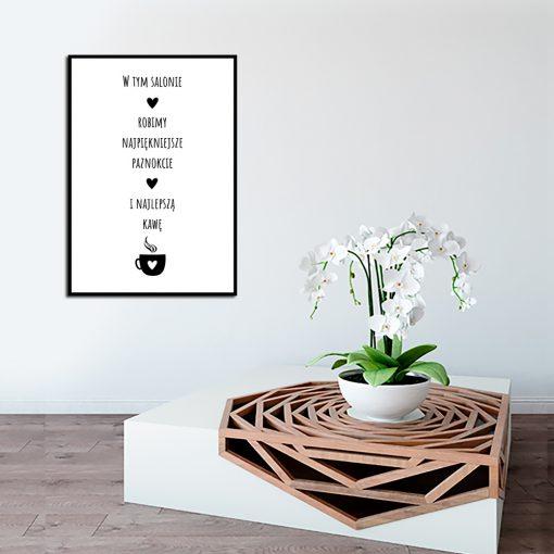 Czarno-biały plakat do salonu kosmetycznego