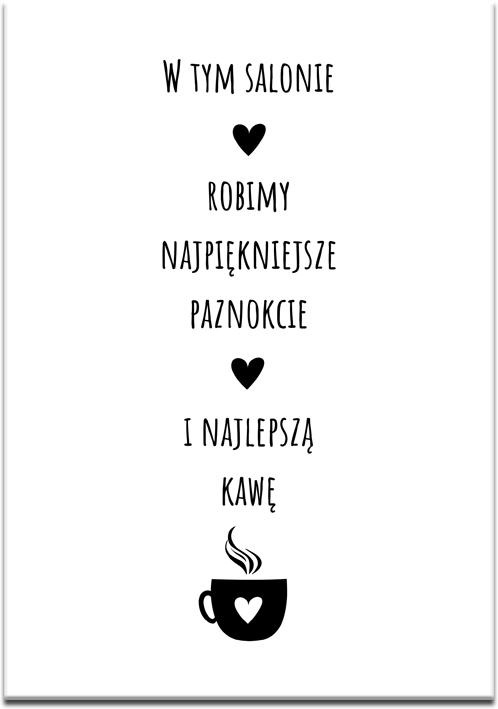 Typograficzny plakat do salonu kosmetycznego