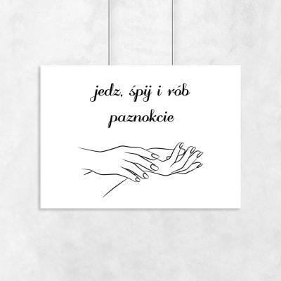 Plakat typograficzny z motywem dłoni