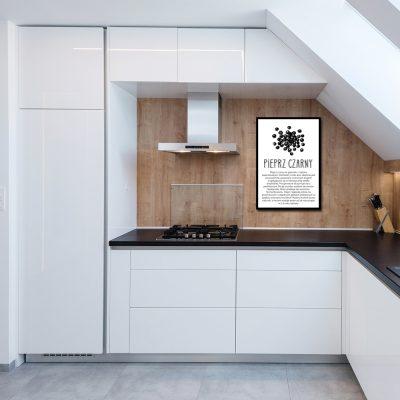 Plakat z przyprawą do kuchni