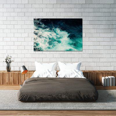 Poziomy obraz w kolorze turkusowym do sypialni