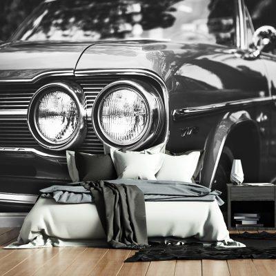 Fototapeta z samochodem retro do salonu
