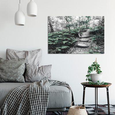 Obraz z zieloną paprocią do salonu