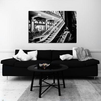 Obraz czarno biały do dekoracji salonu