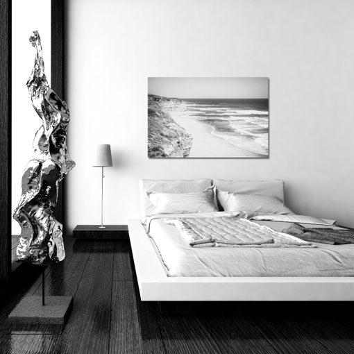 Obraz z czarno białym motywem klifów