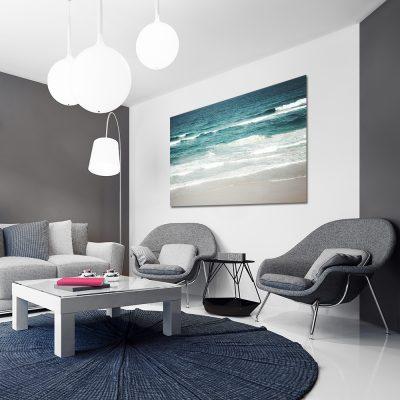 Obraz z falami morza do salonu