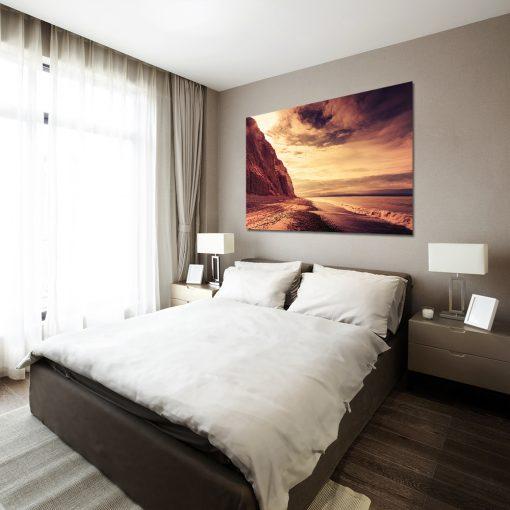 Obraz pomarańczowy do dekoracji sypialni