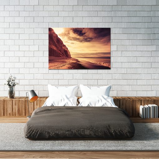 Obraz w kolorze pomarańczowym do sypialni
