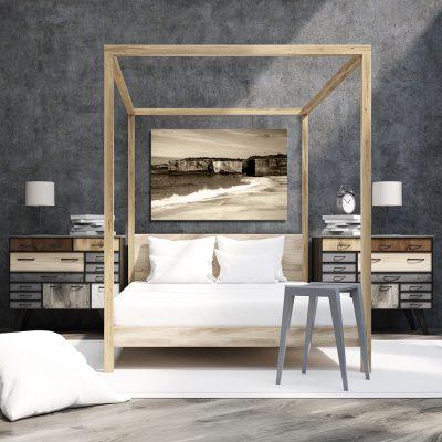 Obraz w kolorze sepii do sypialni