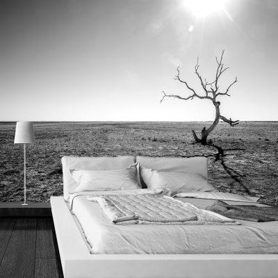 Fototapeta czarno-biała do sypialni