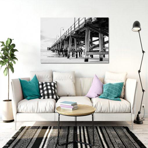 Czarno-biały obraz do salonu