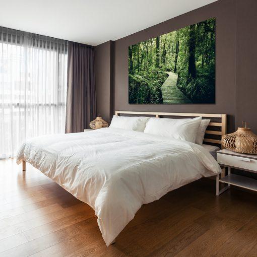 Obraz zielony do dekoracji sypialni