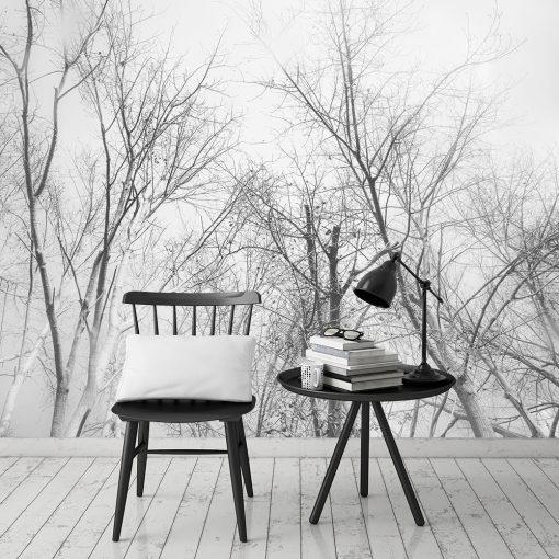 Tapeta czarno-biała do salonu