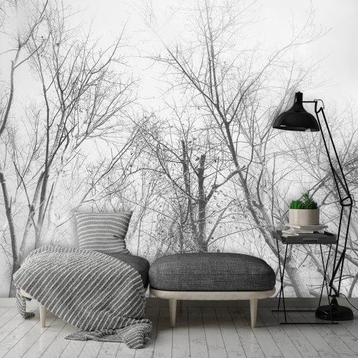 Czarno-biała fototapeta do salonu