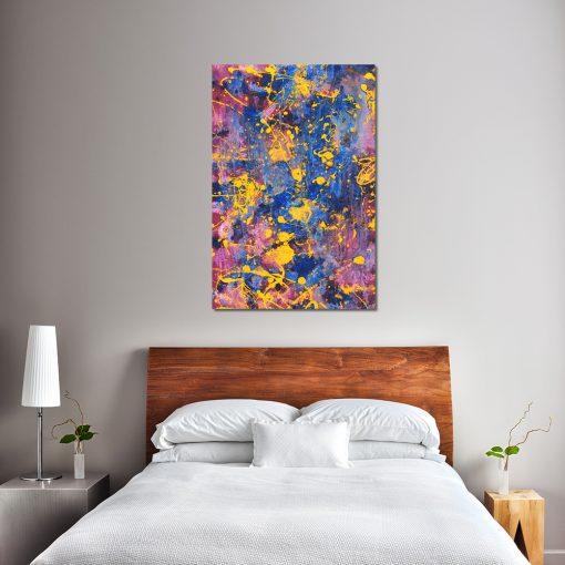 Kolorowy obraz do ozdoby sypialni