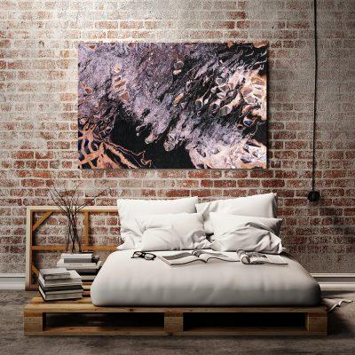 Obraz z abstrakcją do ozdoby sypialni