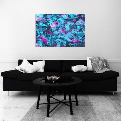 Obraz z abstrakcją do ozdoby salonu