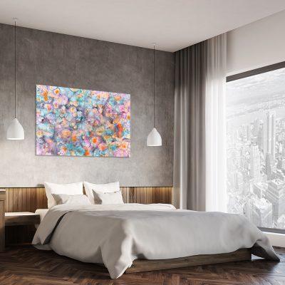 Obraz z motywem abstrakcyjnym do sypialni