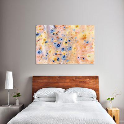 Pomarańczowy obraz do sypialni