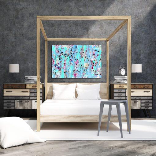 Obraz z abstrakcją do sypialni