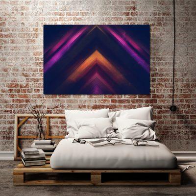 Obraz z trójkątnym wzorem do sypialni