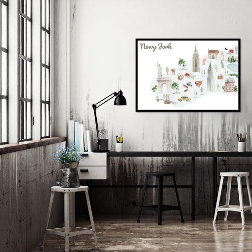 Plakat do dekoracji biura