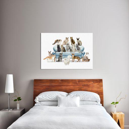 Obraz z motywem kotów do sypialni