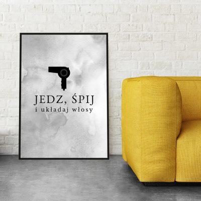 Dekoracja na ścianę do salonu fryzjerskiego