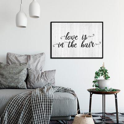 Plakat do dekoracji salonu fryzjerskiego