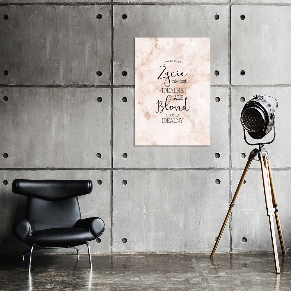 Plakat Fryzjerski Z Motywem Marmuru