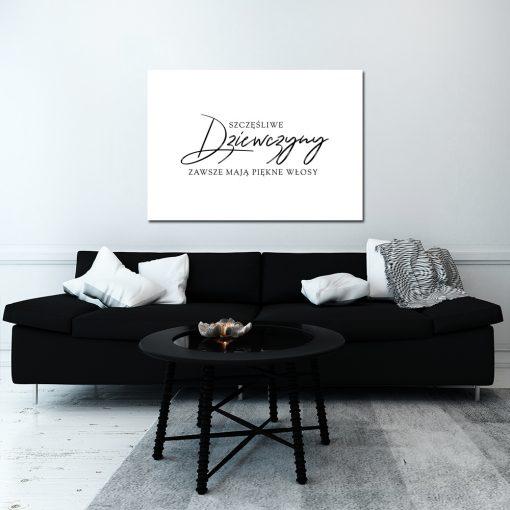 Plakat czarno-biały do dekoracji salonu fryzjerskiego
