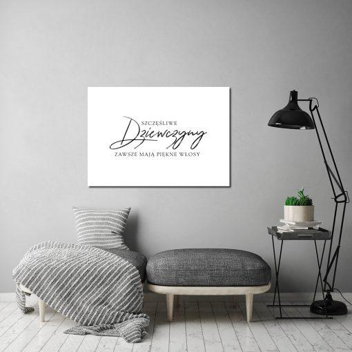 Typograficzny plakat do salonu fryzjerskiego