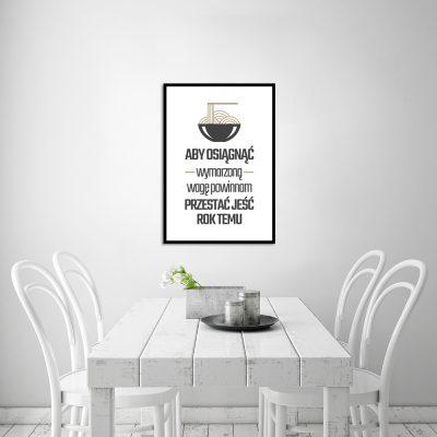 Czarno biały plakat do dekoracji kuchni