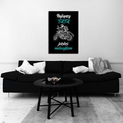 Plakat z motywem motocykla do ozdoby salonu