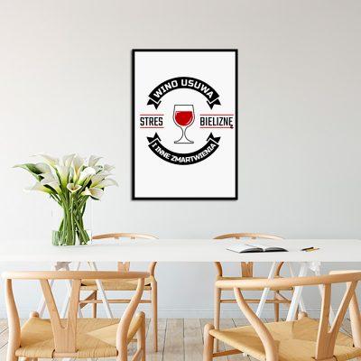 Plakat z winem do dekoracji kuchni