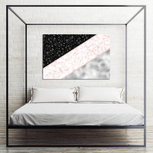 Marmurowy obraz do sypialni