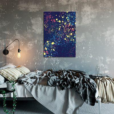 Fioletowy plakat do sypialni