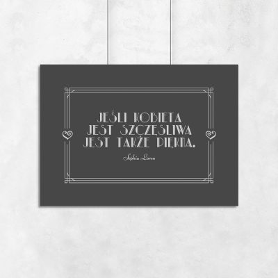 Plakat z cytatem do dekoracji biura