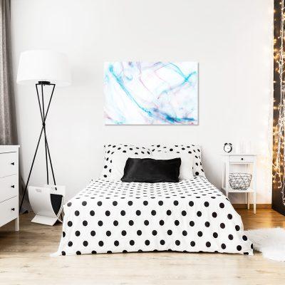Obraz z niebieskim motywem do sypialni