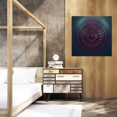 Abstrakcyjny obraz kwadratowy do sypialni