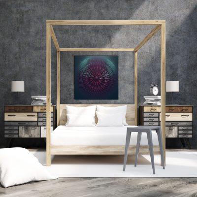 Kwadratowy obraz do sypialni