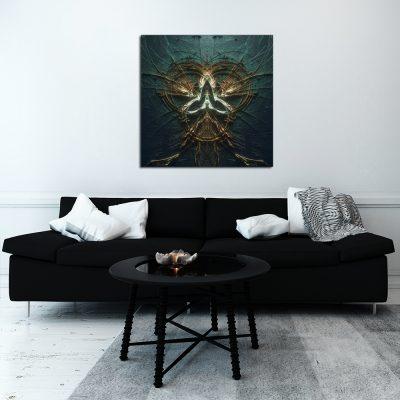 Granatowy plakat do dekoracji salonu