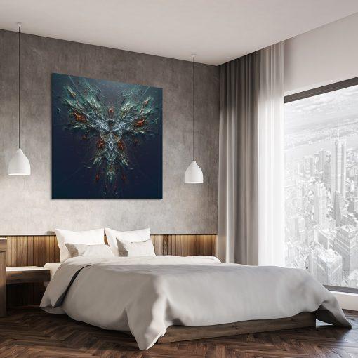 Plakat granatowy do dekoracji sypialni