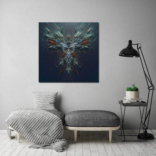 Kwadratowy plakat abstrakcyjny do salonu