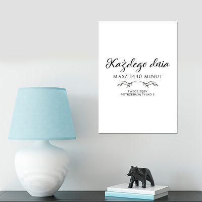 Plakat czarno-biały do gabinetu stomatologicznego