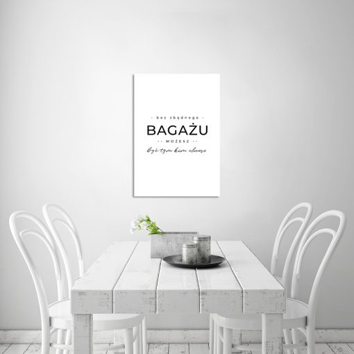 Czarno-biały plakat do kuchni