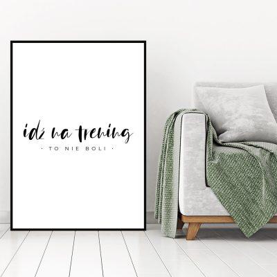 Plakat na ścianę do siłowni